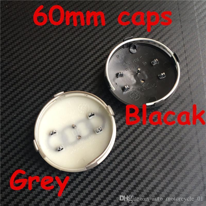 Placas rueda de coche Hub casquillo del centro de tapas emblema de la insignia Car Styling 60mm Gris Negro Nuevo para Audi RS4 S3 S4 A3 A4 A6 A8 TT 4B0601170