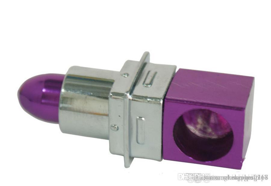GROSSHANDELS Grils Lippenstift Rauchen Tabakpfeifen Zigarette Metallkunststoffrohre Mode magische Kraut tragbare Mini-billig Rohre