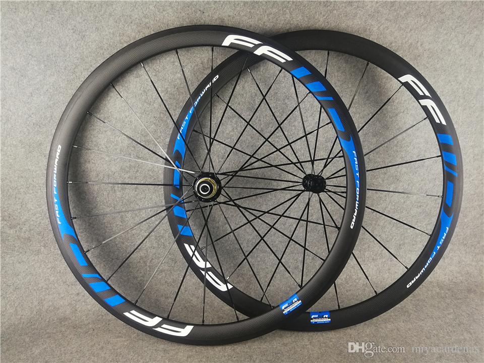 Standard weight FFWD 38mm Blue r13 Ceramic hub clincher bike wheelset 700C carbon fiber road racing bicycle wheels