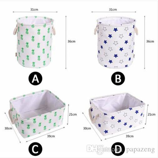 Продажи 2019 года !!! Оптовые бесплатная доставка бытовая грязная корзина ящик для хранения игрушек сумка для хранения одежды складной корзина