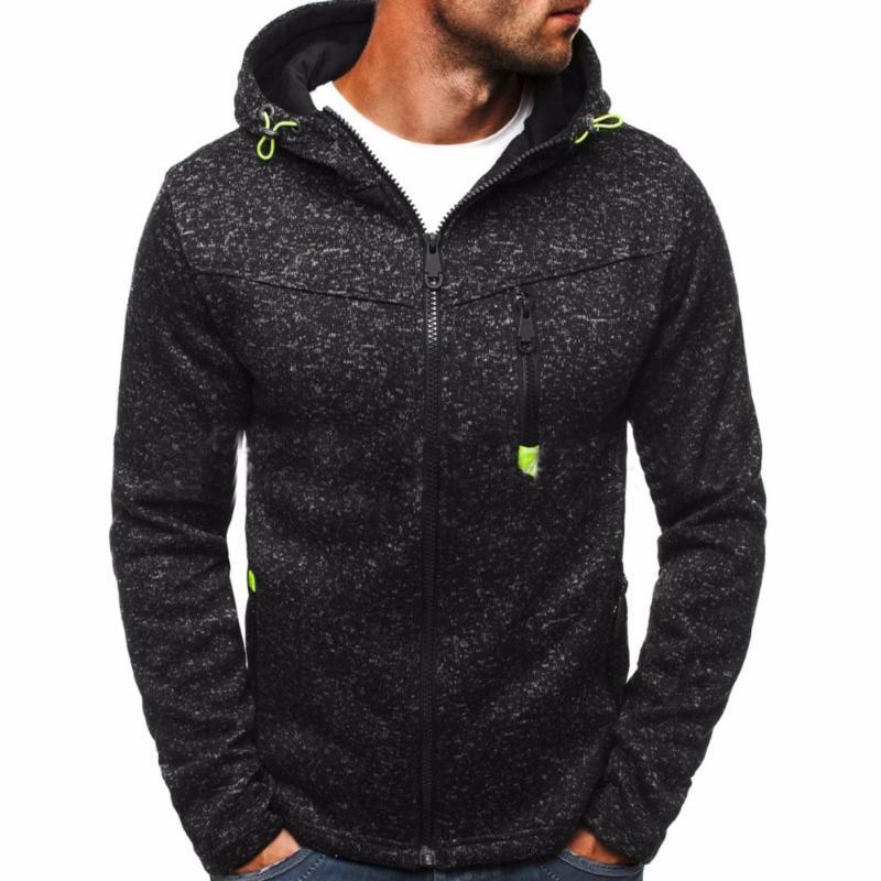 2017 Outono E do Mens Inverno Nova Alta Qualidade Hoodies e camisolas Cardigan Casacos mangas compridas Zipper Hoodies homem Outwear