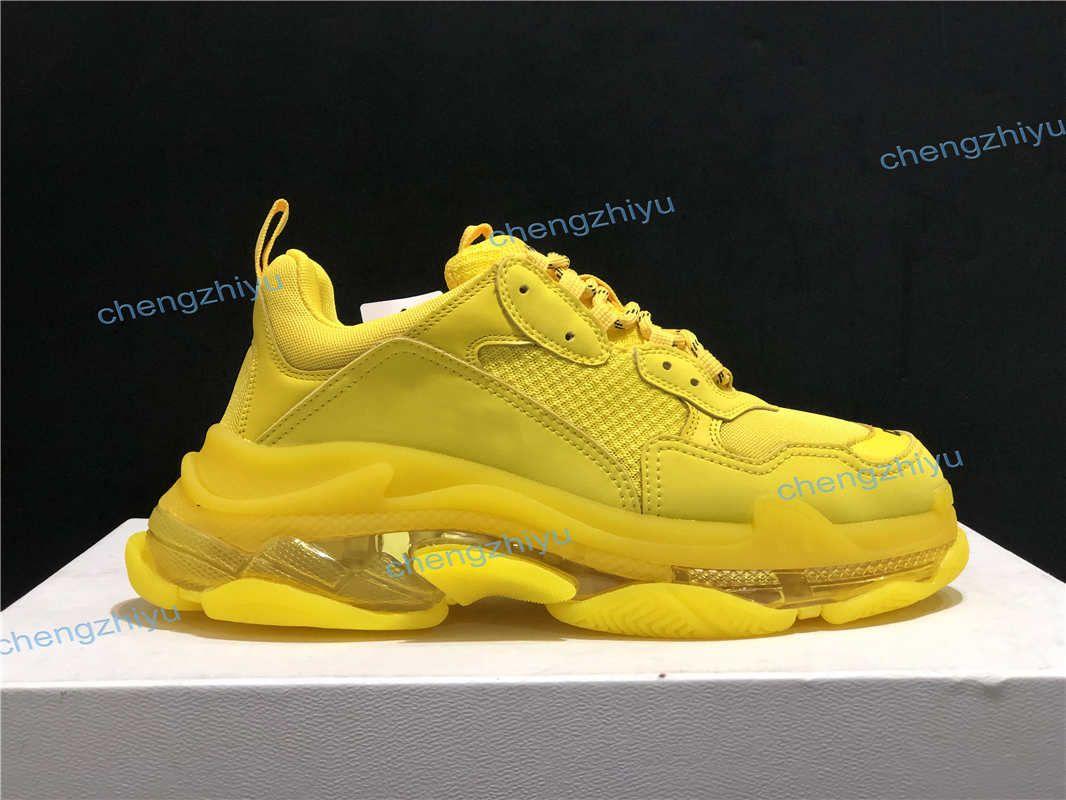2020 Fashion Dark Green Triple S Dad Schuhe beste Qualität Triple-S-beiläufige Schuh-Trainer zapatos Beige Schwarz Männer Frauen Freizeitschuhe mit Kasten