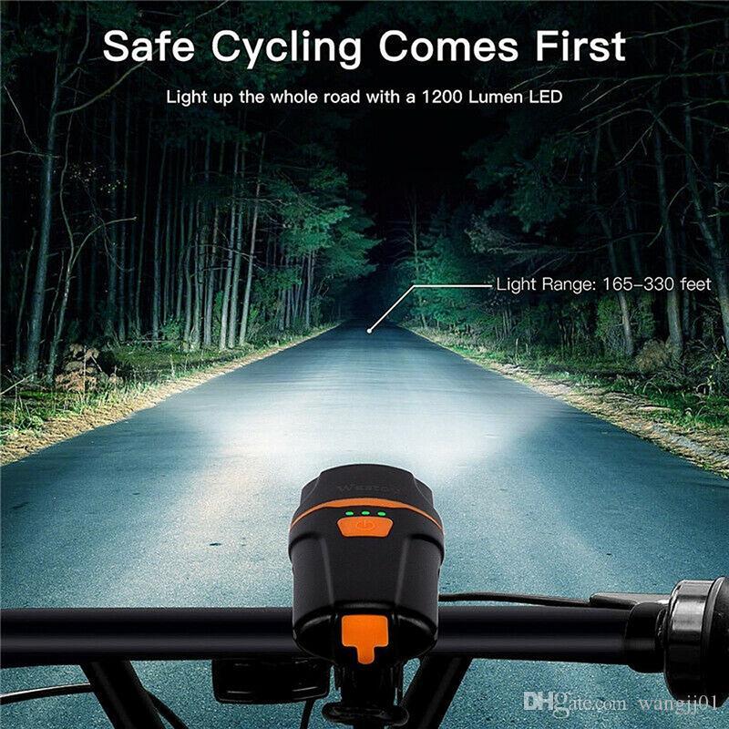 LED de bicicleta Luz IPX6 Waterproof USB recarregável bicicleta Frente Luz Lanterna traseira para bicicletas Lanterna Ciclismo Farol Tocha NOVO