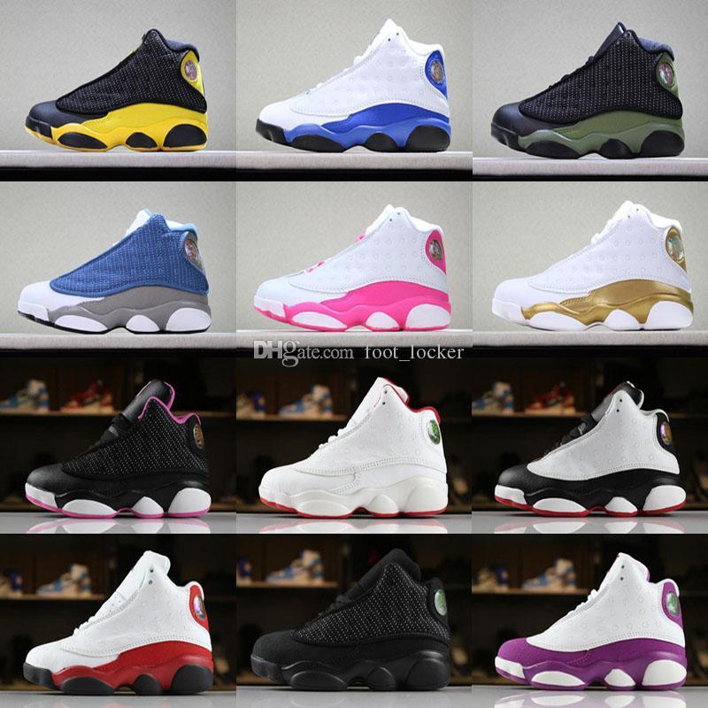 مصمم الطفل 13 أطفال أحذية كرة السلة للشباب الأطفال رياضي 13s أحذية رياضية لصبي الفتيات أحذية حجم الشحن المجاني: 28-35