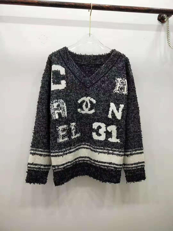 1216 2020 봄 브랜드 같은 스타일 스웨터 풀오버 편지 V 넥 패션 명품 여성 의류 Kint QIAN