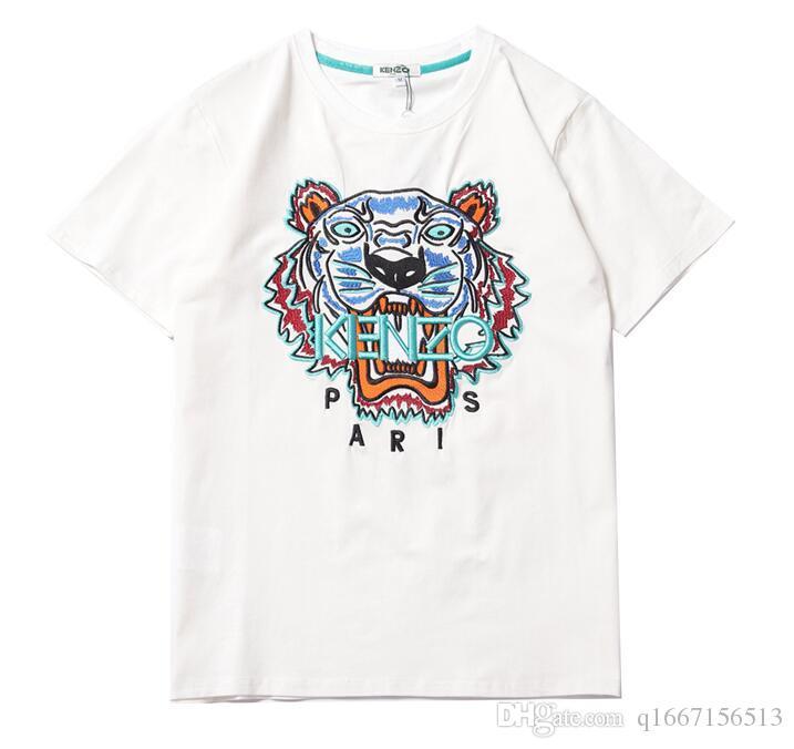 Herren Shirt Sommer-Oberseiten beiläufige Tiger T-Shirts für Männer Frauen Kurzarmhemd Letter-Muster gedruckt Tees