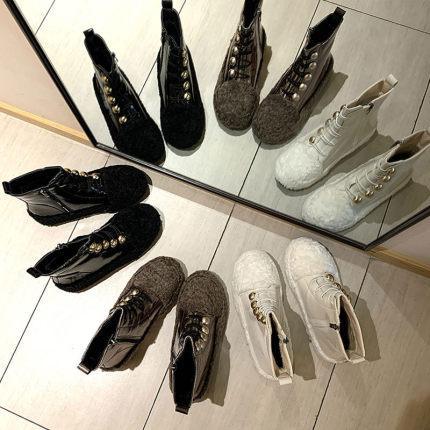Kuzu yünü kar botları yün ayakkabılar kadınlar artı kadife bot ayakkabılar 2019 kış gelgit ayakkabı Martin çizmeler ins peluş
