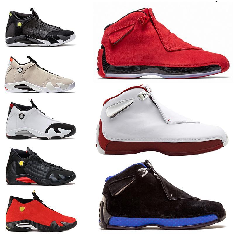 Yüksek kaliteli jumpman 14s 18s süet basketbol ayakkabıları Toro OG ASG Siyah Beyaz Kırmızı Siyah Kraliyet DMP Thunder tasarımcı eğitmenler ayakkabıları 13 mens
