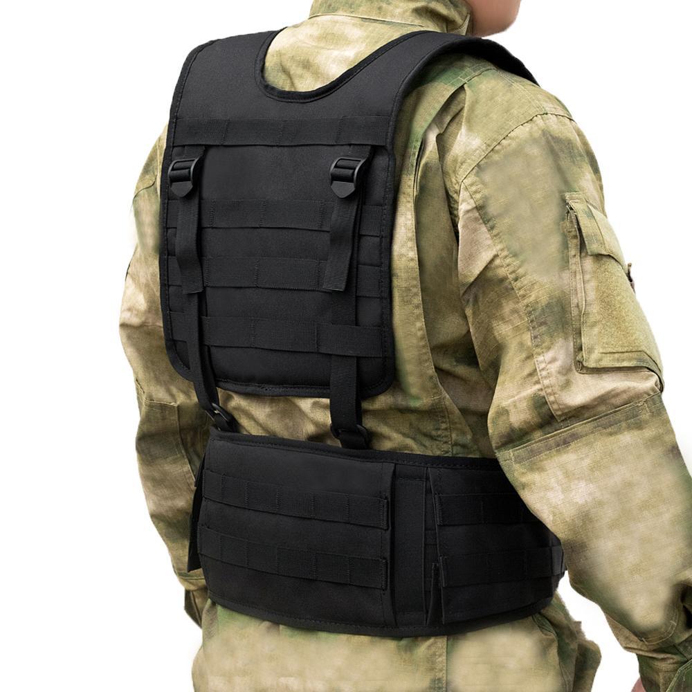buscando el juego chaleco táctico Cinturón Molle Paintball Cs combate placa protectora portador para caza al aire libre de disparo Airsoft Chaleco