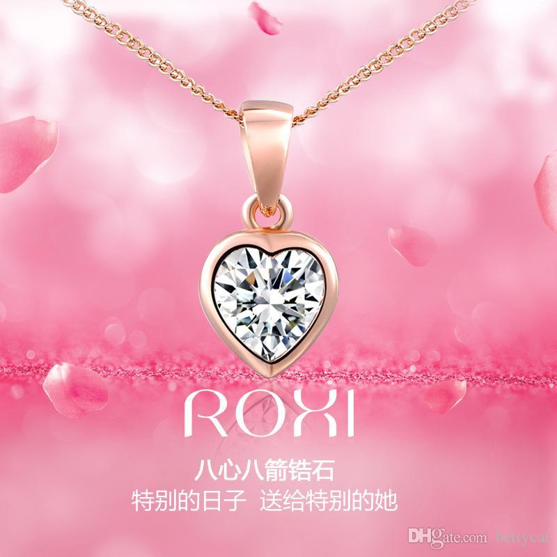Romantische Frauen Damen Modeschmuck Kristall Herz Halskette Geburtstagskind Valentinstag Liebe Festivalgeschenk