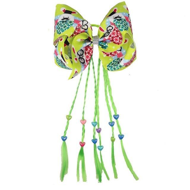 """HOT 7"""" Ostertag Eier Haarschleife mit Pferdeschwanz-Halter für Mädchen Perücken Cheer Haar beugt 12-Zoll-Halter-Haar-Zubehör 8PCS"""