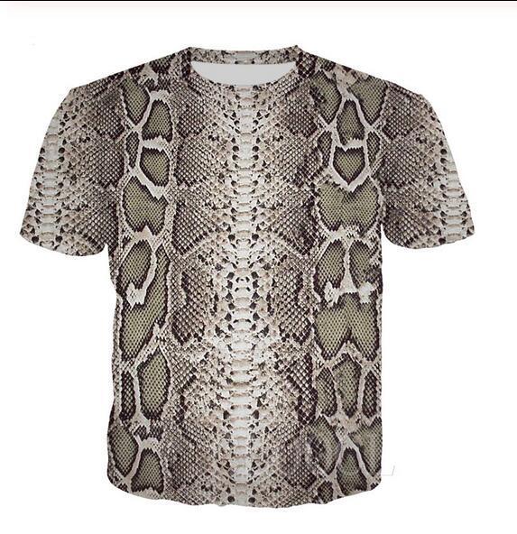 Yeni Yaz Yeni Moda Erkek Kadın t shirt Yılan derisi Hip hop tişört Erkekler Artı boyutu 5XL LJ0223 tshirt Casual Serin yazdır 3d