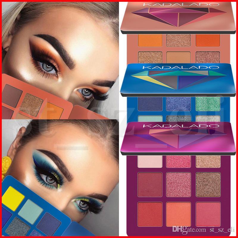 Kadalado Makeup Eyeshadow 9 Color Diamond Palette Make up Palette Shimmer Glitter Matte Pigmented Mini Eye Shadow maquillage 5 Styles