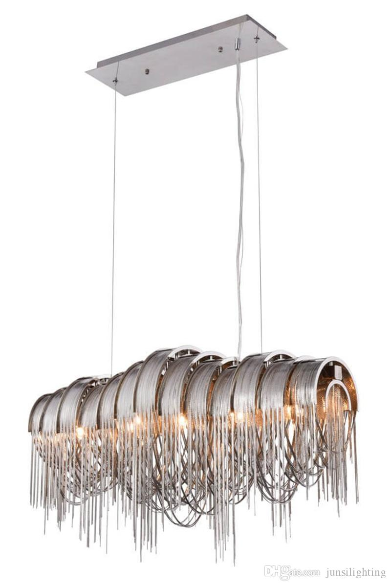 Wongshi Gold Silber Aluminium Kette Pendelleuchte Atlantis für Villa Hotel Restaurantladen Droplight