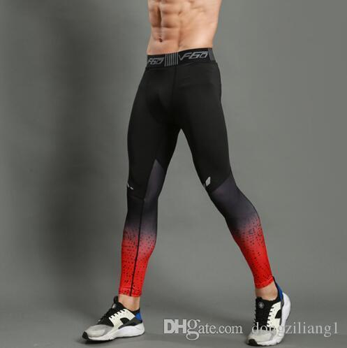 Rahat Koşu Sıkıştırma Pantolon Tayt Erkekler Spor Tayt Spor Spor Uzun Pantolon Spor Salonu Eğitim Pantolon Skinny Leggins Hombre