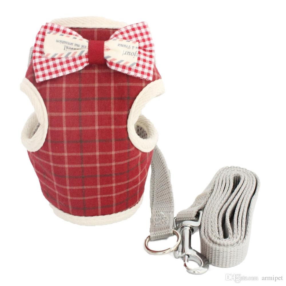 Bow Decoration Vest Small Dog Cat Halter Harnesses Lead Cloth Chest Strap For Dogs 6044029 Pet Puppy Supplies S M L