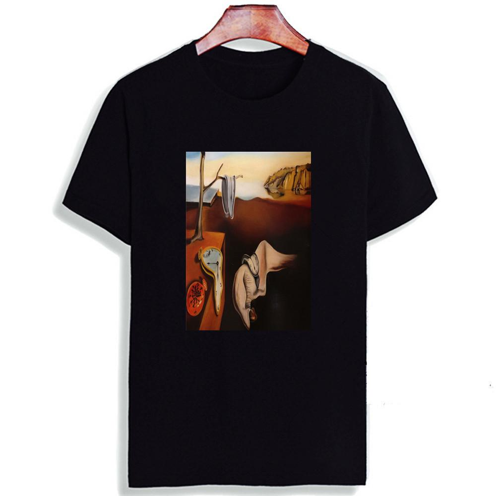 Skipoem T-shirt drôle Salvador Dali Art Surreal coton O Neck T-shirt à manches courtes Plus Size Marque Hauts T-shirt