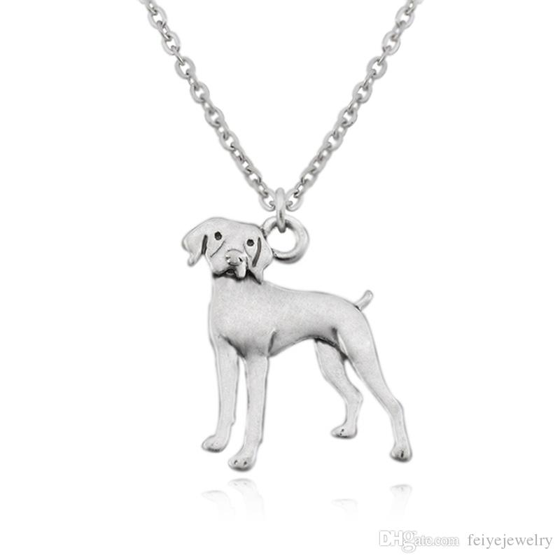 Vintage Vizsla & German Shorthaired Pointer Dog Charm Pendant Chain Necklaces Men Colar For Women Jewelry Accessories Boho Couple Necklace