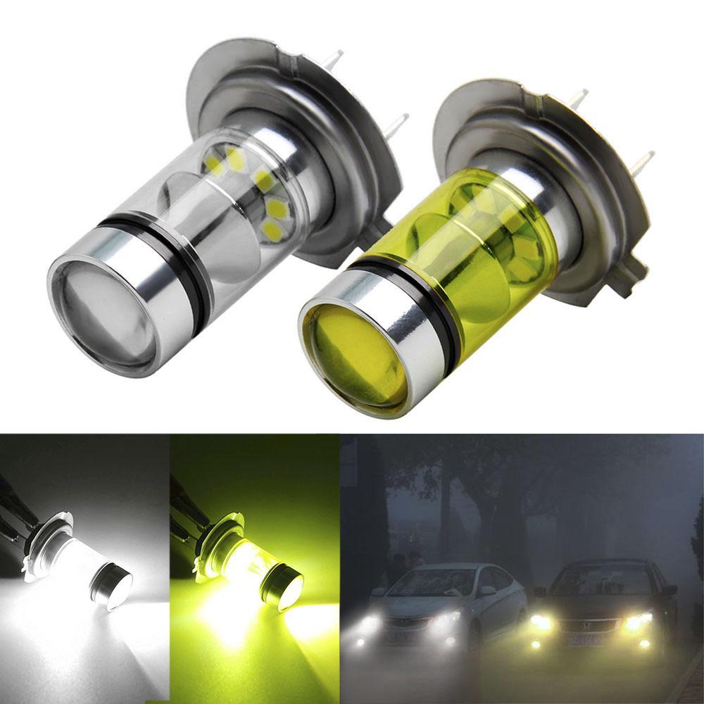 Lamba için Otomatik Led H7 Işık Ampullerimize Running H7 LED Ampul Süper Parlak Araç Sis Lambaları 12V 24V Beyaz Sarı Sürüş