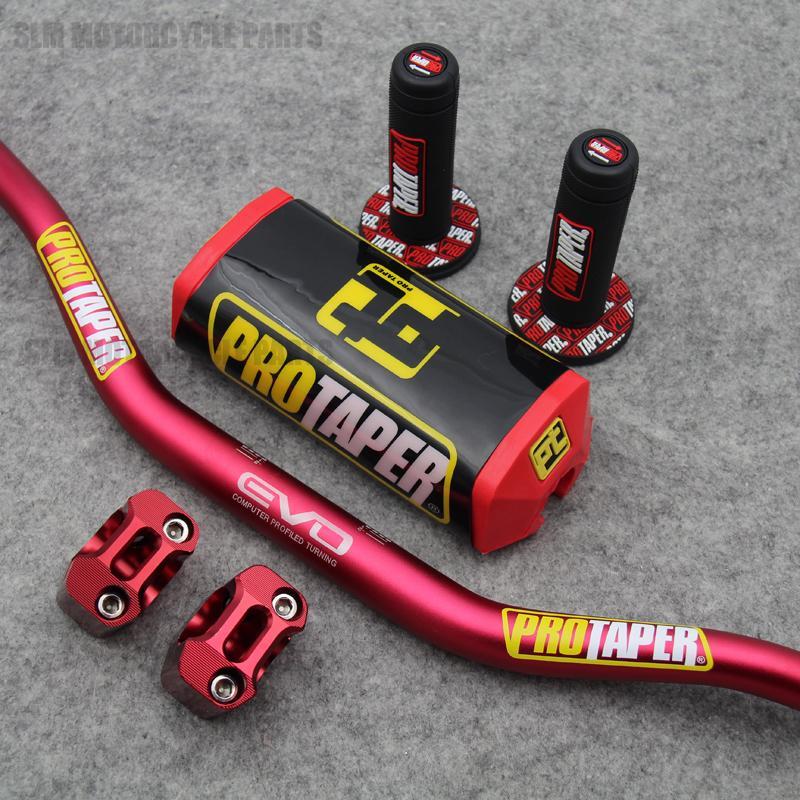 1-1 / 8 28mm Motorrad Lenker Fat Bars Griffe Bar Pad Riser Für Dirt Bike YZ250F YZ450F YZ250FX WR450F WR250F