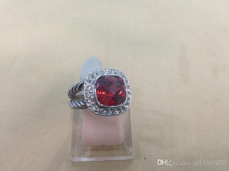 новые горячие роскошные женские женские дамы панк dj большой драгоценный камень бриллиантовое кольцо Кристалл бриллианты палец кольца 7 цветов бесплатная доставка
