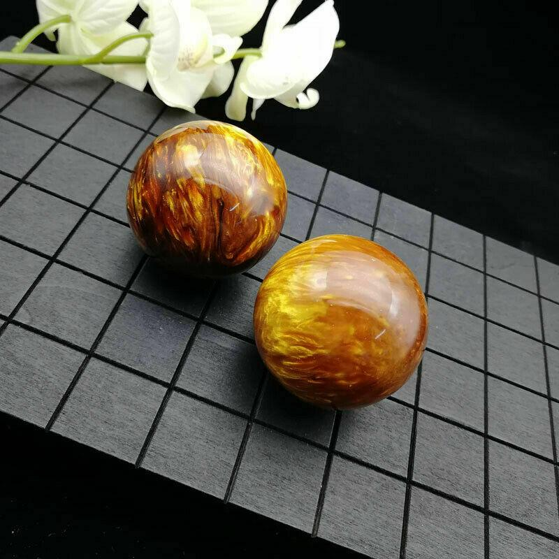 10pcs Genuine Golden Black Coral Sea Willow cure the handball Ball 50MM