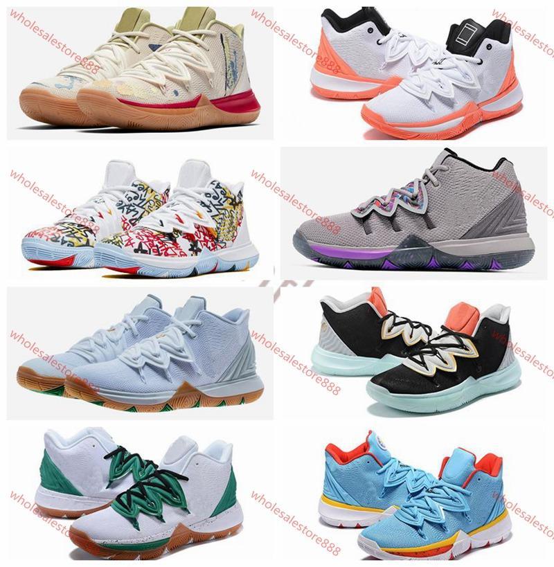 xshfbcl 2020 Yeni Geliş Erkek Kyrie Ayakkabı TV PE Basketbol Ayakkabı Ucuz 20. Yıldönümü Sünger için 5 Spor Sneaker lusso Irving'in 5s V Five x