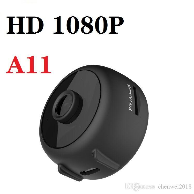 A11 HD Mini Kamera 1080P HD Kablosuz WiFi Uzaktan Monitör Mini IP Kamera IR gece görüş Video Kaydedici desteği Hareket Algılama
