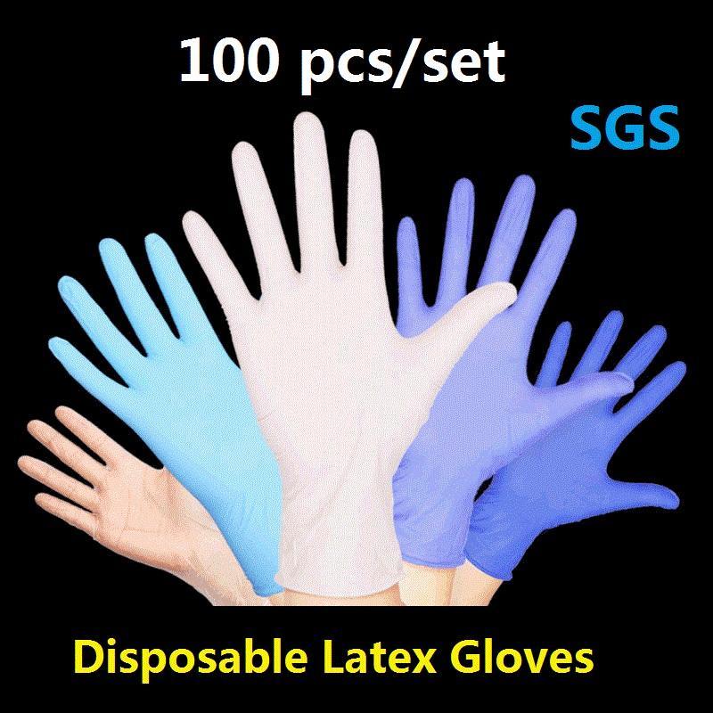 Gants jetables Gants en latex Nettoyage gauche main droite universelle Porter des gants Entretien ménager Cuisine / jardin Gant