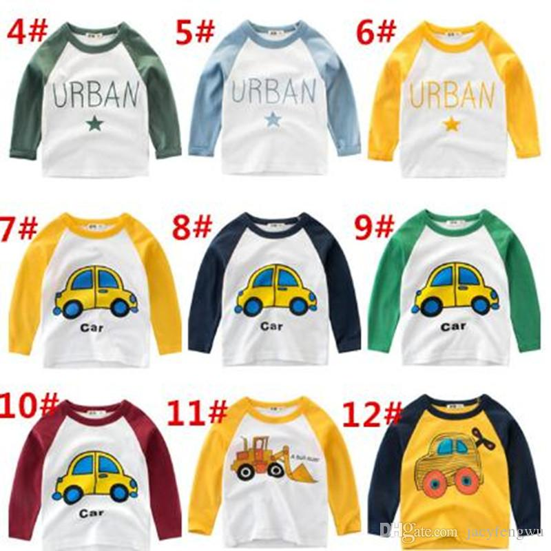 Designer Cartoon Children Clothes Tops Boys pullover Sweater Shirt Tops Kids Outfits Tees Baby Underwear Clothes 13 style 2-7years CQZ168