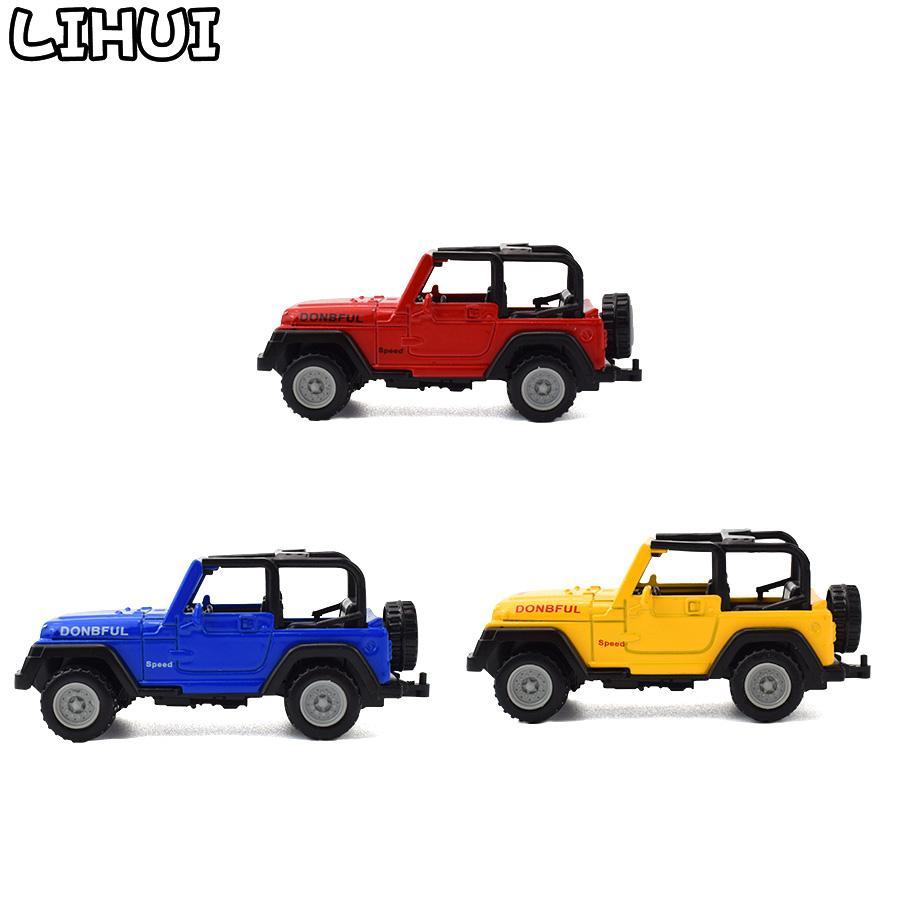 3 Цвета Детские игрушечные сплава Diecast Джипы Wrangler Открыть Верхние Откись Дорожные автомобили Мини Модель Игрушки для детей Мальчики Глиняные автомобильные Игрушечные подарки