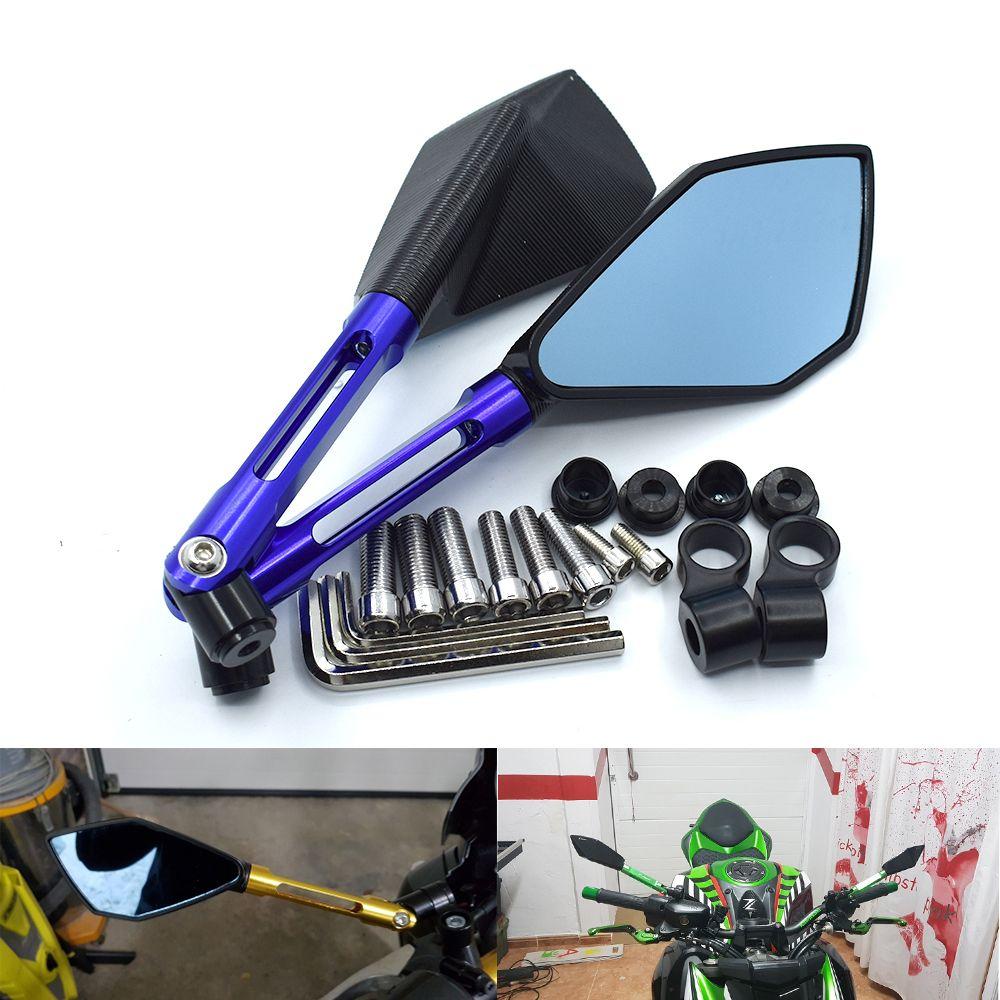 Pour Motorcycle Rearview Mirror CNC en aluminium ALL Case pour YAMAHA FZ1 FZ6 MT-07 MT-09 MT-10 KAWASAKI ER-6N Z1000 Z750