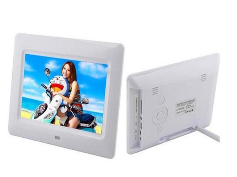 7INCH TFT LCD إطار الصورة الرقمية ألبوم MP4 لاعب الفيلم المنبه JPEG / JPG / BMP MMC / MS / SD MPEG AVI كسفيد