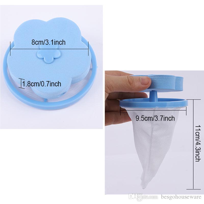 2 Estilos forma de malla de filtro de lana Bolsa de lavandería bola de la flor depilación filtración dispositivo de herramientas de limpieza reutilizables bolsas de malla flotante BH2232 EJT