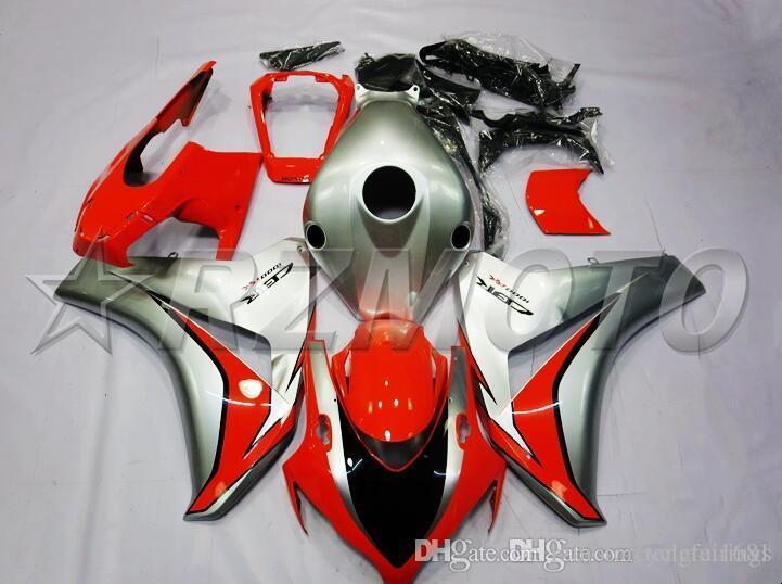 OEM calidad ABS carenados completos kits aptos para Honda CBR1000RR 2008 2009 2010 2011 CBR1000RR carrocería conjunto personalizado Free Rad Gris frío