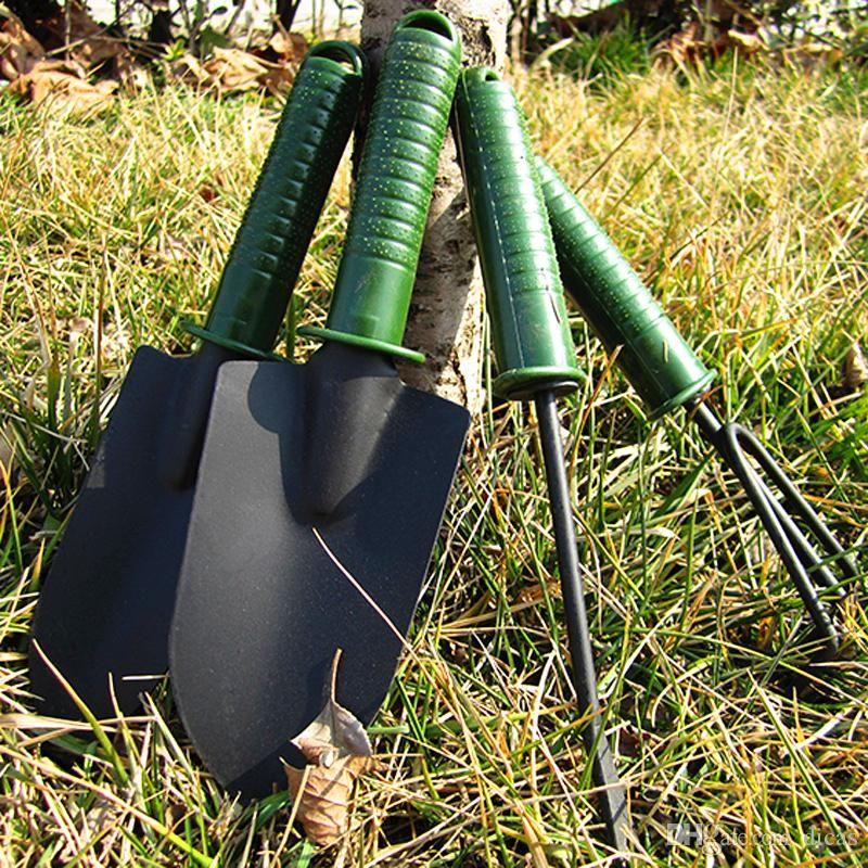 Multi-functional Gardening Tool Kit Small Shovel Three-toothed Rake Four-piece Garden Tools Combo Soil-growing Weeding Tools