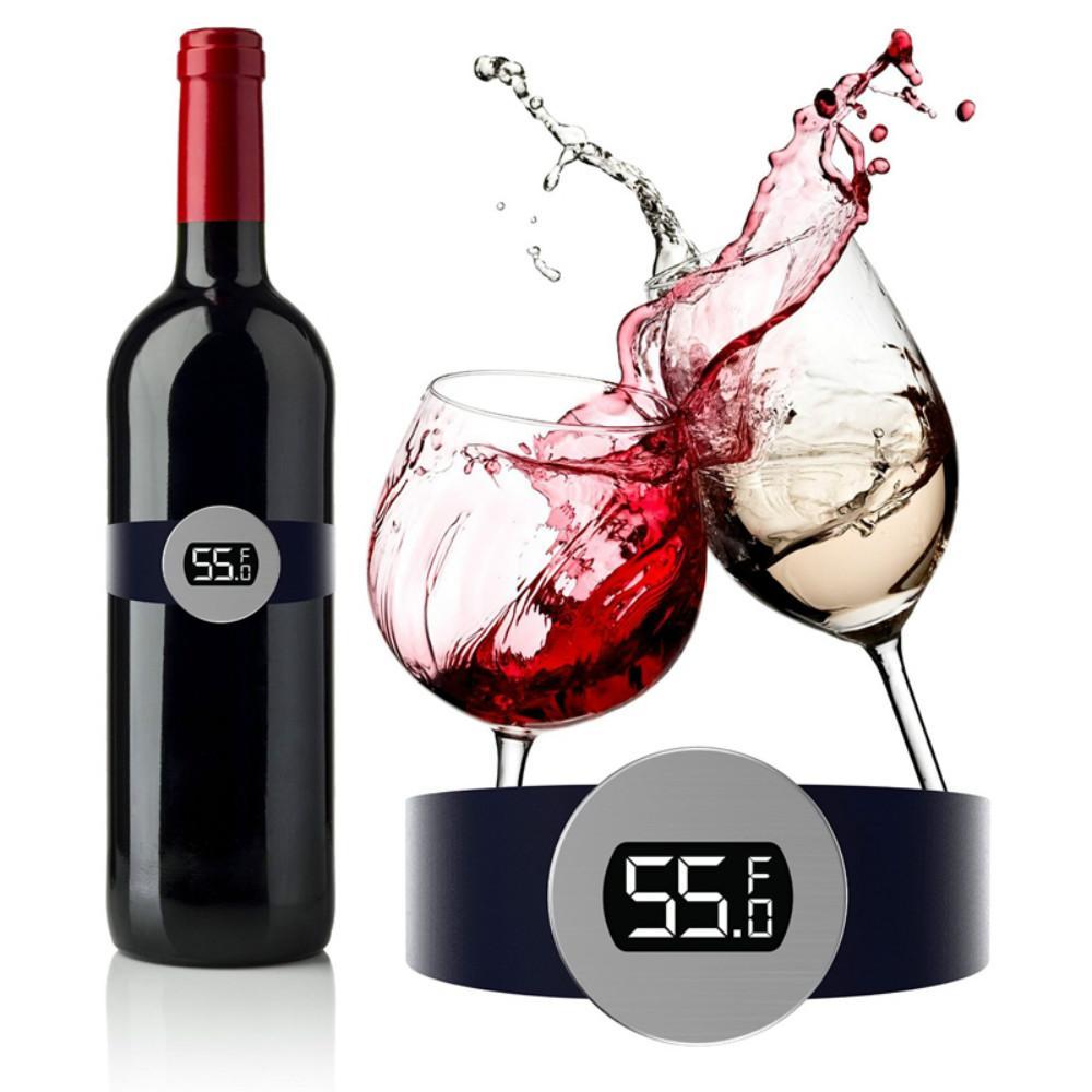 Bira Ev Mutfak Aletleri Sıcak satış için yeni 2019 Paslanmaz Çelik Şarap Sıcaklık Sensörü Kırmızı Şarap Bilezik Termometre