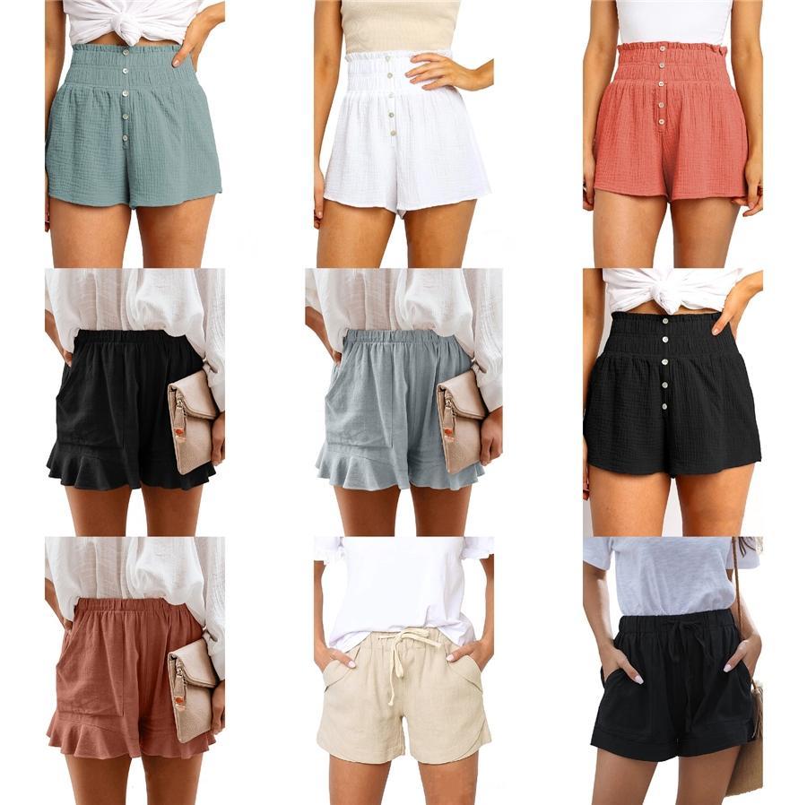 Sólido Treinamento Desportivo Sports Shorts Meio Comprimento Shorts Gym aptidão das mulheres Shorts verão # 760
