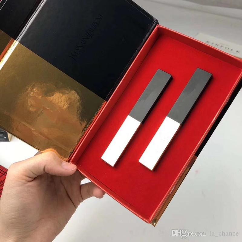 2019 nova marca famosa 2 cores lip maquiagem conjunto batom lábio 2 pcs batom em uma caixa