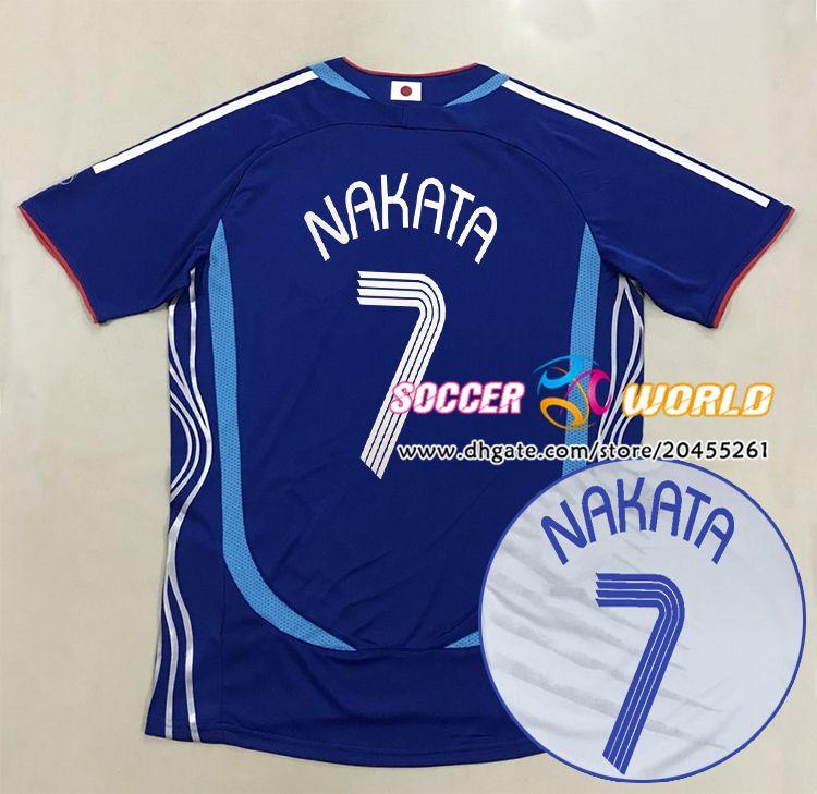 Top Retro japan soccer jerseys 2006 japan Home away NAKATA OGASAWARA NAKAMURA TAKAHARA Japan national team football shirt Size S-XXL