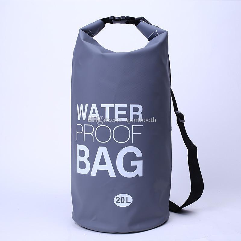 NEW 20L 500D PVC im Freien wasserdichten Dry Schwimmen Driften Tasche Rucksack Impermeable Ozean-Pack-Schwimmen-Wasser-Beweis-Tasche Upstream