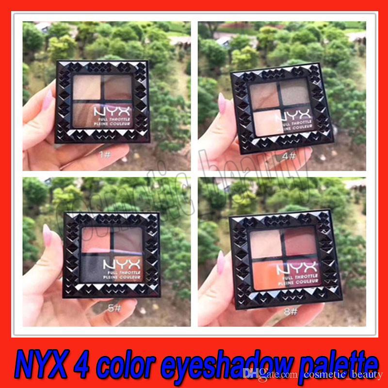 .2019 NYX 4 cores da paleta da sombra Full Throttle Matte sombra de olho paleta de maquiagem cor 4 1 # 4 # 5 # 8 # paletas de sombras