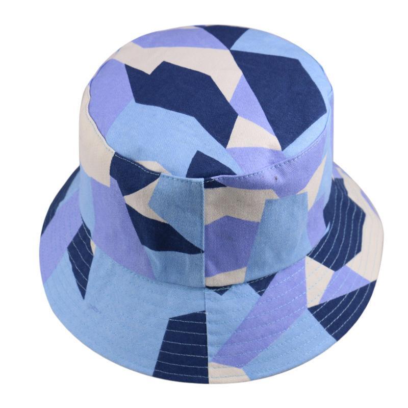 Nuovo Panama Bucket Hat Uomo Donna Estate Bucket Cap Disegno Geometrico Stampa Bob protezione UV Cappello Hip Hop pesca pescatore