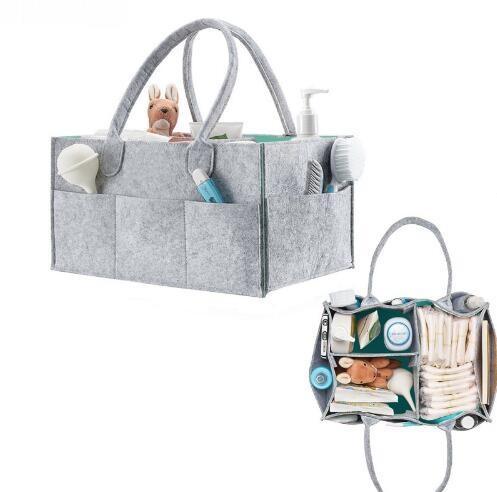 طوي الطفل حفاظه العلبة المنظم هدية كيد لعب المحمولة حقيبة التخزين / صندوق لسيارة السفر تغيير الجدول المنظم