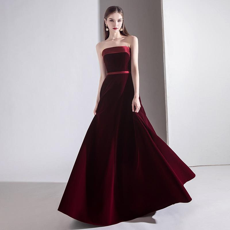 nuevo vestido de noche atractivo elegante vestido de noche anual reina tostadas vestido de noche del banquete