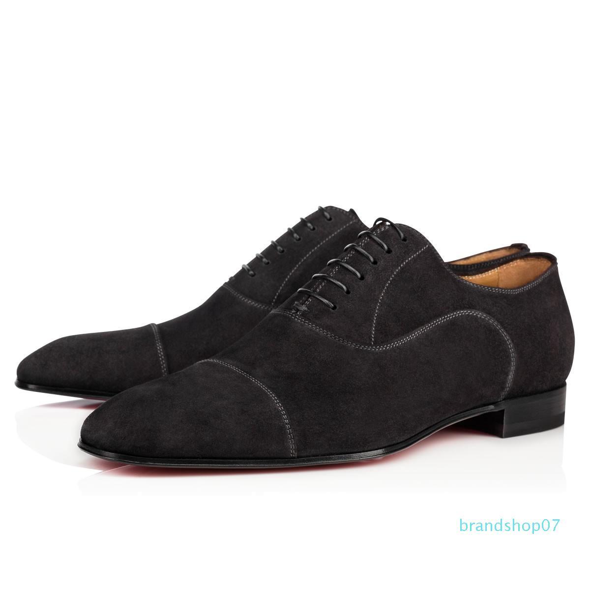 Haute qualité d'affaires Gentleman Sneaker Red Bottom Greggo Orlato Flats Hommes, Femmes Marche robe de soirée de mariage Designer Red Shoes Sole