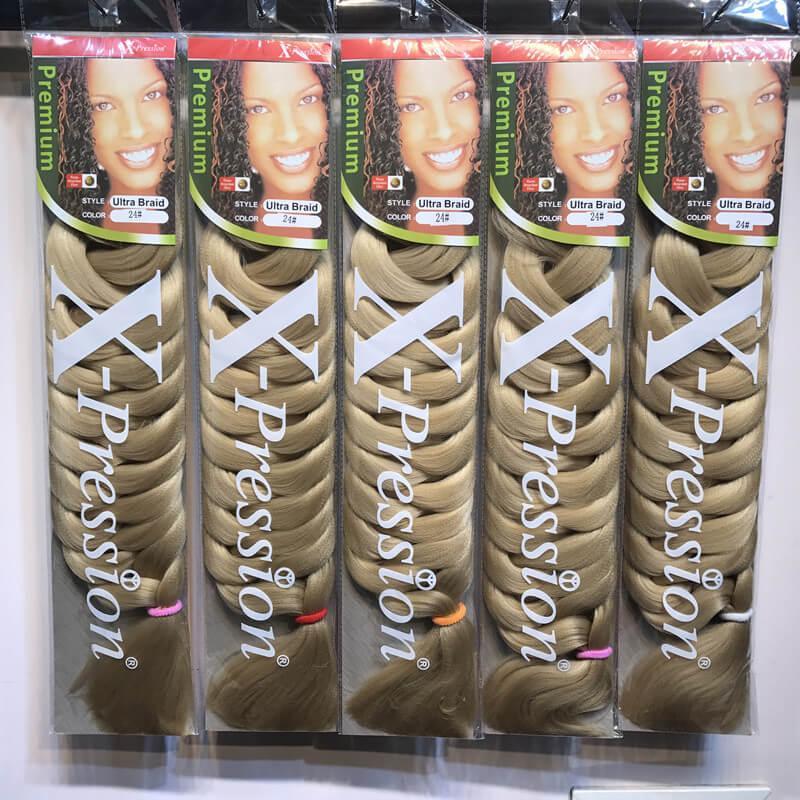 82-дюймовые растворительные волосы Длинные синтетические волосы плетение Jumbo косы Ультра косы сыпучие материалы Croxhet Удлинитель для волос Creox Dhgate