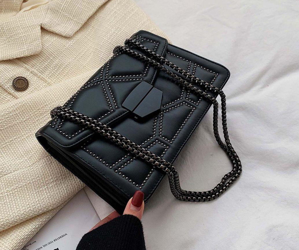 Fiery Rivet piccola catena di Crossbody Borse per le donne Shoulder Bag Messenger Lady borse di lusso