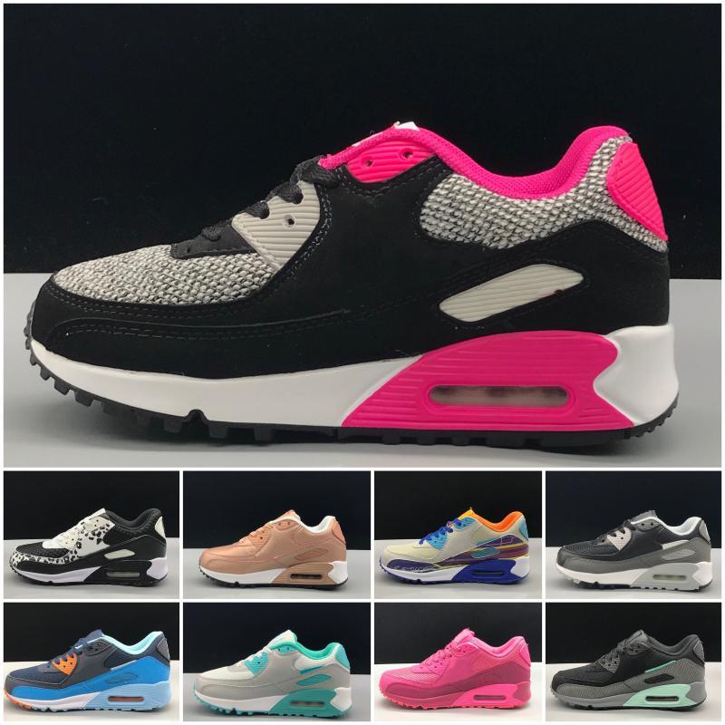 Nike air max 90 I bambini Sneakers Presto II Bambini Sports ortopedico Gioventù Bambini formatori pattini infantili dei ragazzi delle ragazze all'aperto 10 colori Dimensione 28-35