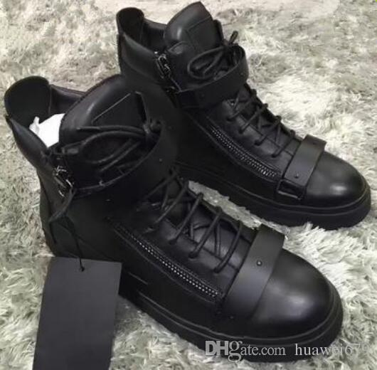 italian brand designer men shoes Genuine Leather women platform sneakers zapatos mujer scarpa chaussure High-top sneakers big size 35-47